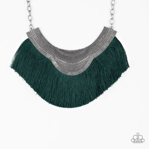 My PHARAOH Lady - Green Fringe Necklace Set